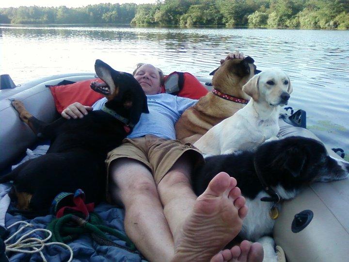 fifi in boat